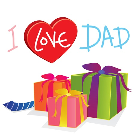 vector gift love dad Vector