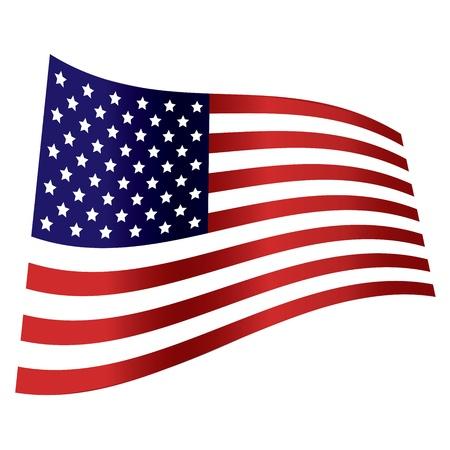 american flag wave independence day Illustration