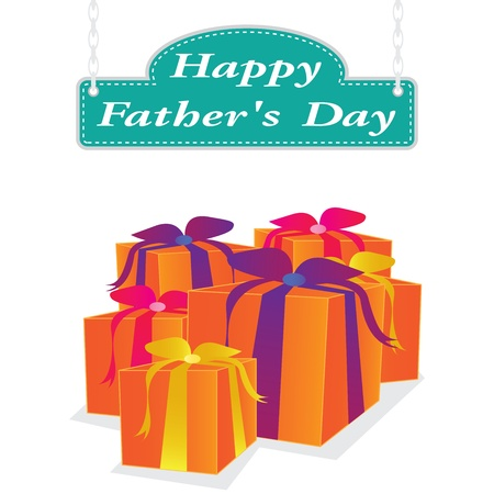 vector father day label Vector