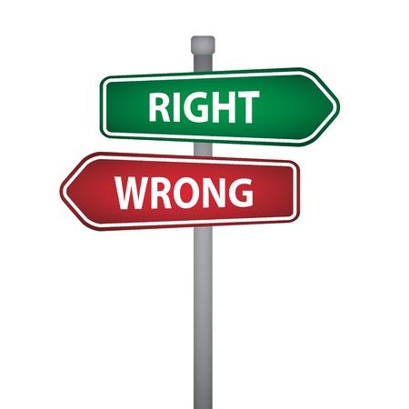 right wrong pillar Stock Vector - 20220384