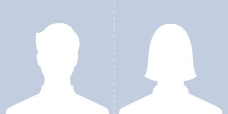 male and female profile picture Stock Vector - 20416814