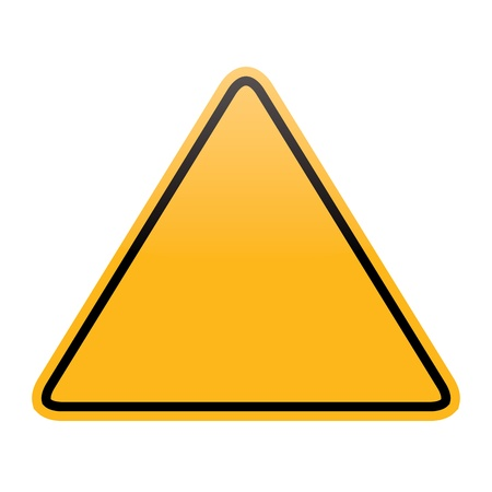 wet floor caution sign: blank yellow warning sign isolated