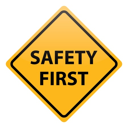 vector safety first Illustration