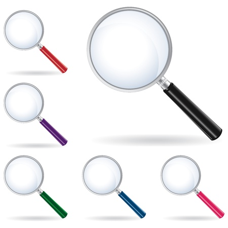 vector pack magnifying glass isolated Stock Vector - 20405267