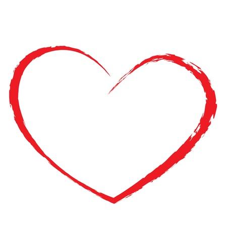 hart bloem: hart tekening