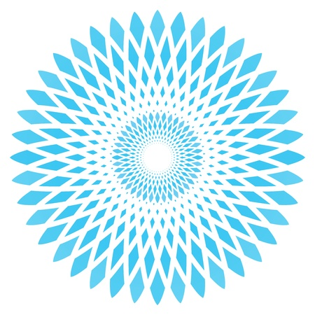 kaleidoscopic: vector abstract blue circle flower
