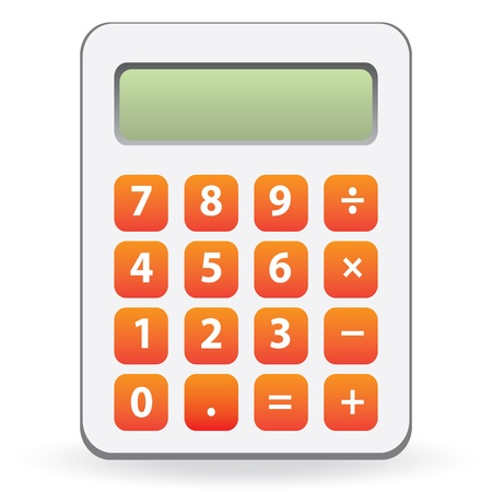 calculator isolated Stock Vector - 20400538