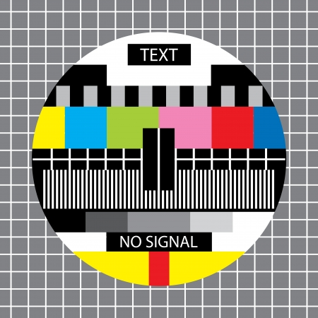 아무 신호 monoscope TV 스톡 콘텐츠 - 20405203