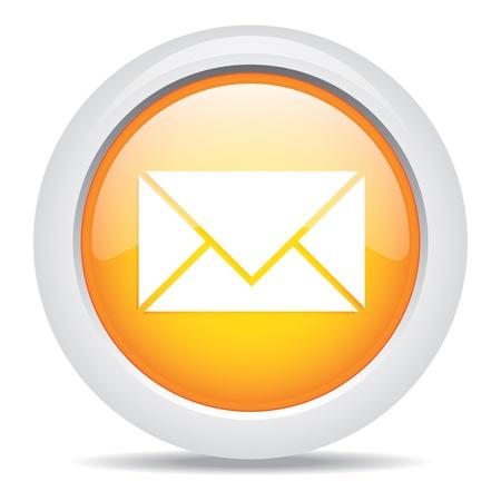 write us: mail isolated on white background Illustration