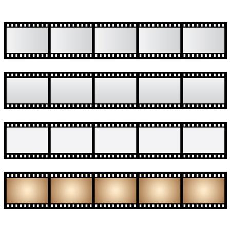 vector pack film strip isolated Vettoriali