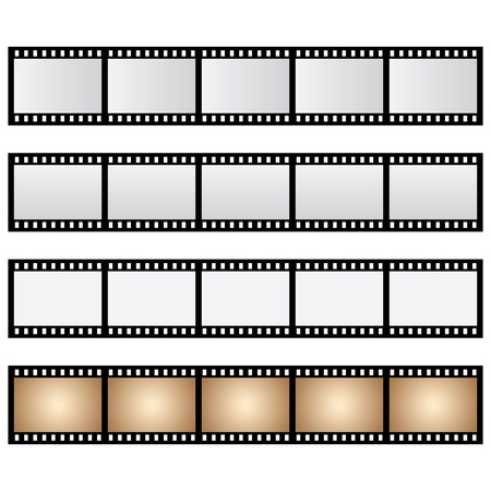 vector pack film strip isolated Illustration