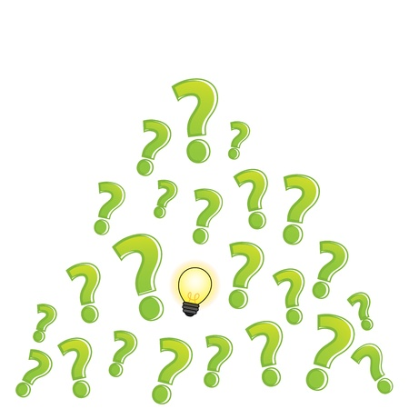 question mark bulb clear