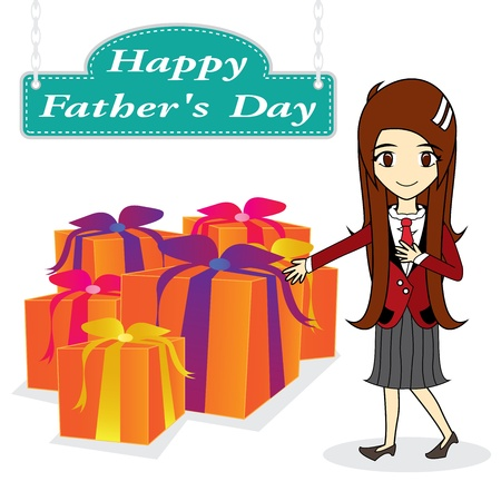 vector father day on white background Vector