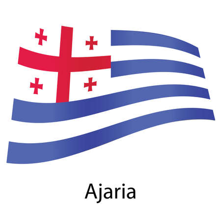 vector ajaria flag isolated Stock Vector - 20583228