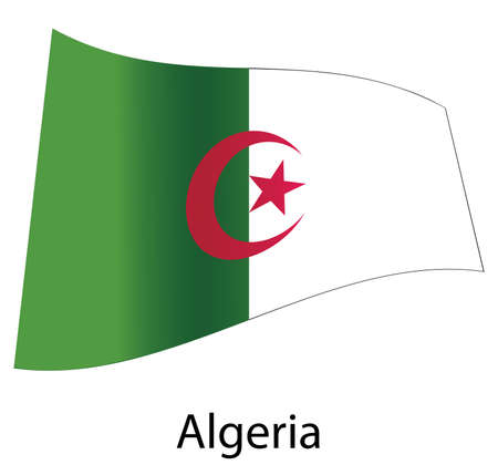 vector algeria flag isolated Stock Vector - 20583230