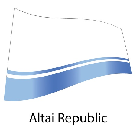 vector altai republic flag isolated Vector