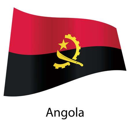 vector angola flag isolated Stock Vector - 20583225