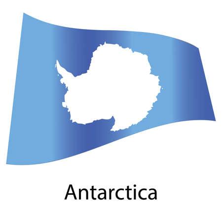 antartide: vettore antartide bandiera isolato Vettoriali