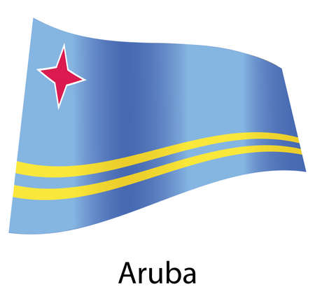 vector aruba flag isolated Vector