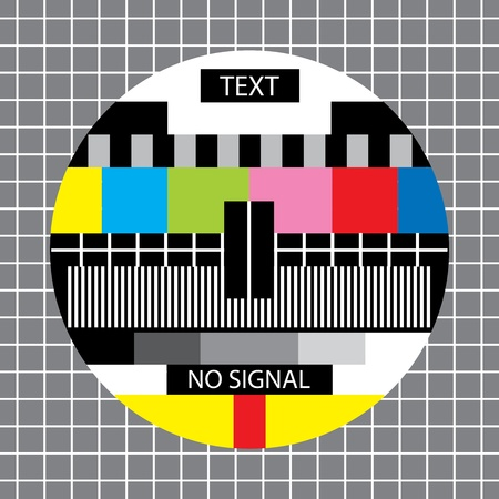tv no signal monoscope Vector