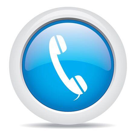 pushbutton: phone isolated on white background