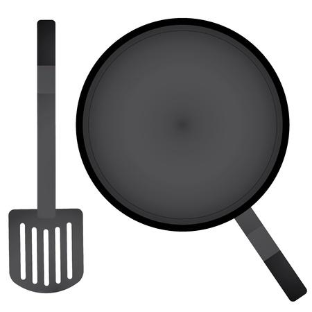 vector a pan and spatula Vector