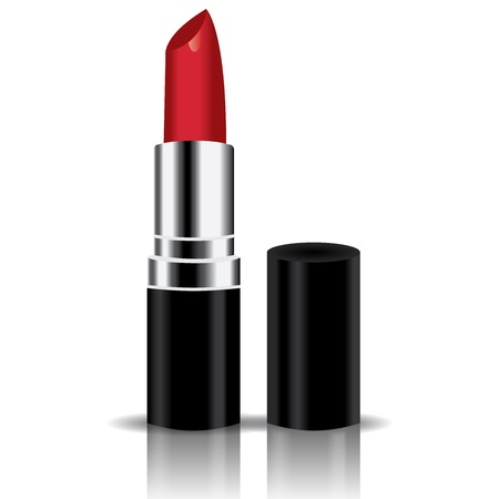 warm up: red lipstick vector