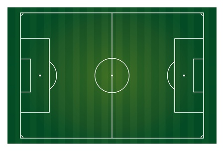 vector football field horizontal isolated Vector