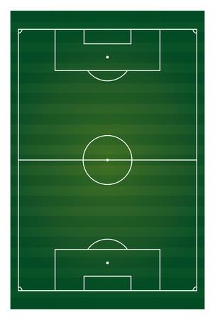 vector football field vertical isolated Stock Vector - 20583321