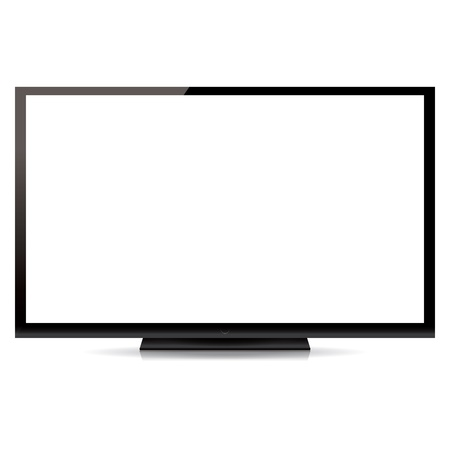 flat screen tv: modern blank flat screen tv isolated on white background Illustration