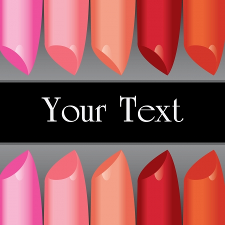 warm up: vector colorful lipstick label board