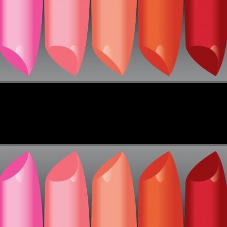 vettore colorato rossetto bordo dell'etichetta Vettoriali