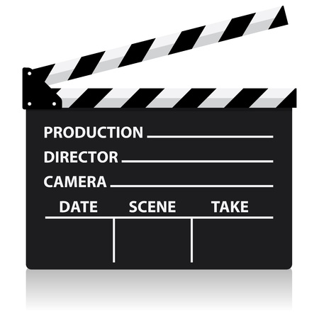 vector chalkboard movie director slate  イラスト・ベクター素材