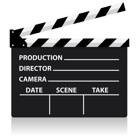 vector chalkboard movie director slate Illustration