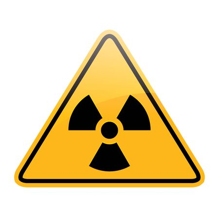caution chemistry: vector danger radiation sign Illustration