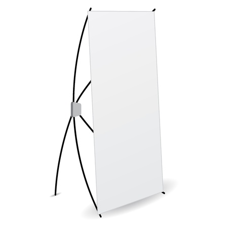 side banner x-stands display isolated Illustration