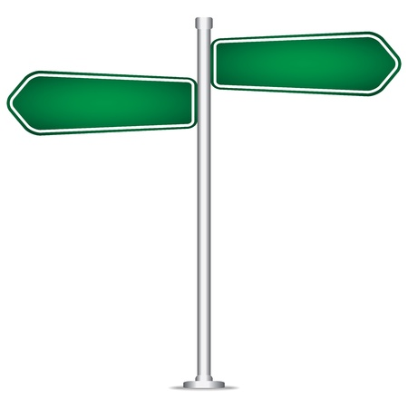 pole sign road blank isolated Stock Vector - 20888032