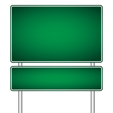 highway sign:  pole sign road blank isolated Illustration