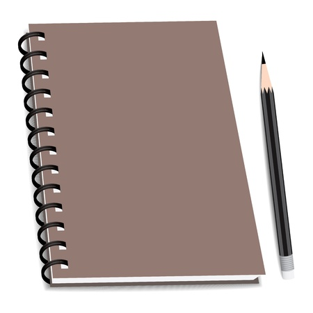 stack of ring binder book or notebook isolated Vector