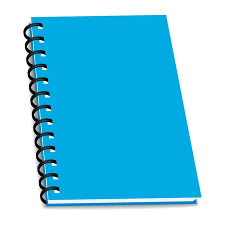 spiral binding: stack of ring binder book or notebook isolated Illustration