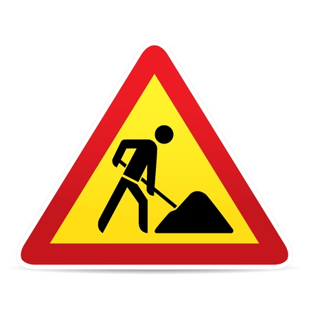 under construction sign: building construction site warning sign
