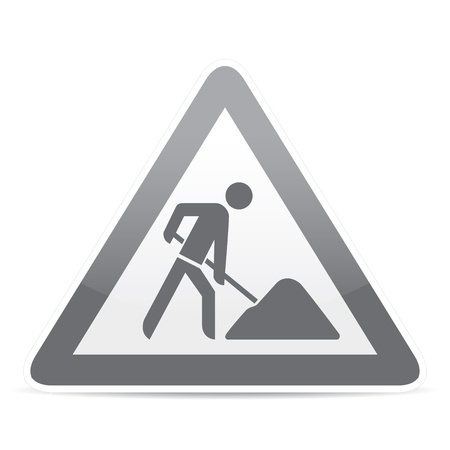 building construction site warning sign Stock Vector - 20888173