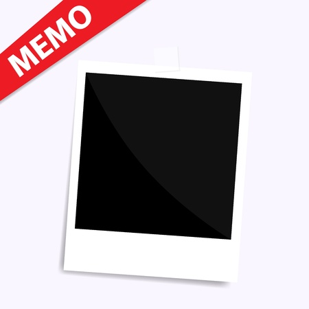 regret: memo photo on wall isolated