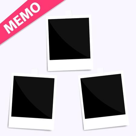 3 memo photo on wall