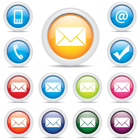 icon pack mail set symbol vector Vector