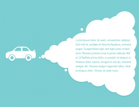 car cloud leadership concept Vector