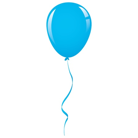 vector blue balloon ribbon Illustration