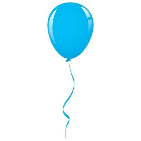 vector blue balloon ribbon Vettoriali
