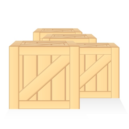 vector wood box illusion isolated Vector