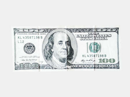 american dollars money on the white background Stock Photo - 21576225